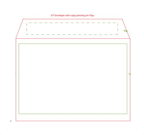 9 Sle A7 Envelopes Sle Templates Microsoft Word A7 Envelope Template