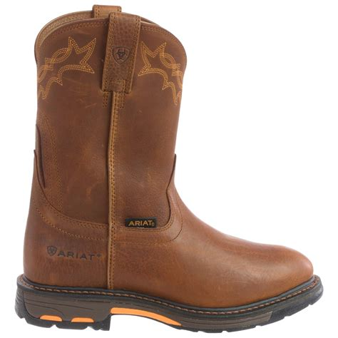 mens pull on boot pull on work boots for yu boots
