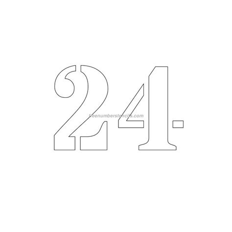 Printable Number Stencils 24 Inch | free 5 inch 24 number stencil freenumberstencils com