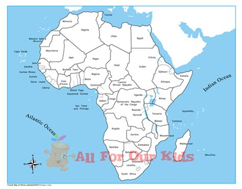 best photos of printable labeled map of africa printable