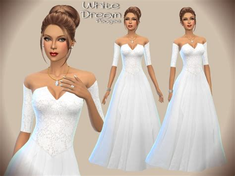 Wedding Dress The Sims 4 by White Wedding Dress By Paogae At Tsr 187 Sims 4 Updates
