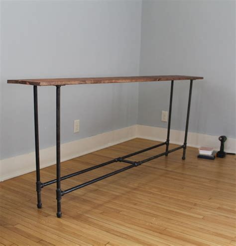coming together our diy industrial pipe console table