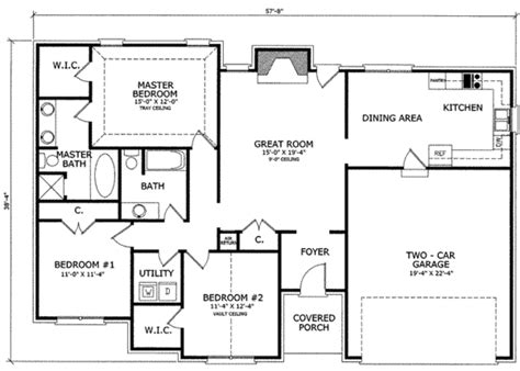 ranch style house plans 1102 square foot home by ranch style house plan 3 beds 2 00 baths 1475 sq ft plan