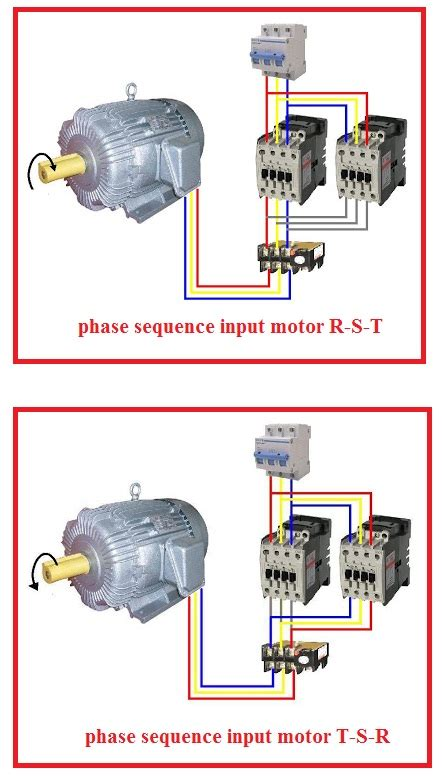 forward three phase motor wiring diagram elec