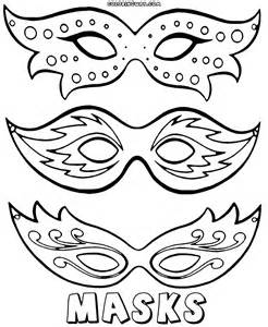 Mask Coloring Pages  To Download And Print sketch template