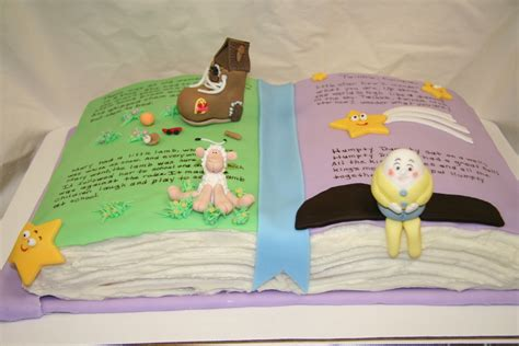 Baby Shower Book Cakes by Nursery Rhyme Baby Shower Book Cake Cakecentral