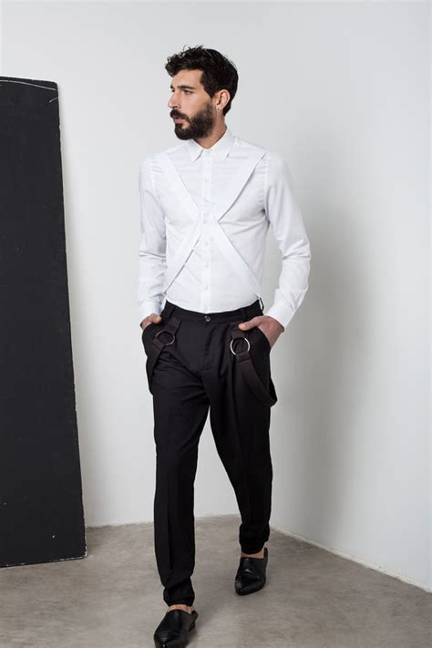black and white shirt to wear with pants mens white shirt mens dress shirt harness shirt mens shirt