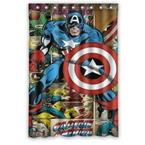Superhero Bathroom Decor Captain America Shower Curtain Bathroom Decor Bathroom