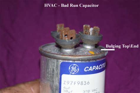 bad furnace run capacitor symptoms hvac outside compressor or fan motor not running