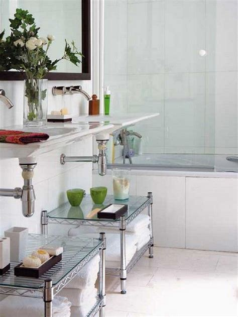 creative storage ideas for small bathrooms creative storage idea for a small bathroom