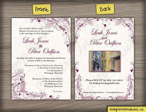 canada wedding invitations custom floral wedding invitations canada empire invites