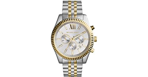 michael kors silver and gold tone in