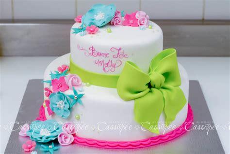 colorful birthday cake    girl cakecentralcom