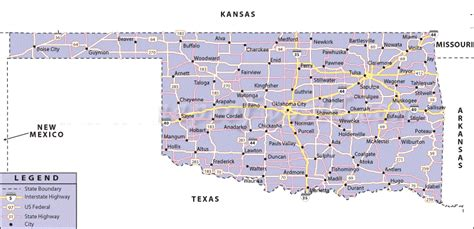 road map of oklahoma map of oklahoma state map of usa