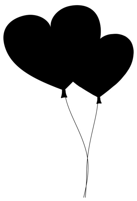 Black heart balloon with string Png - PNG #53 - Free PNG