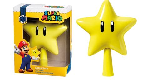 super mario star christmas tree topper this mario topper completes your tree