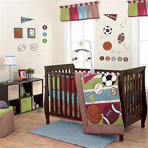 Belle Sports Star Crib Bedding Collection Crib Sports Bedding