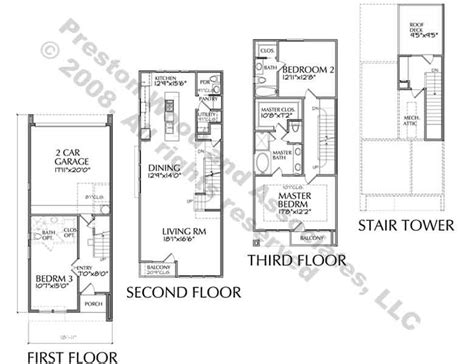 townhouse blueprints townhouse plan residential townhouse pinterest