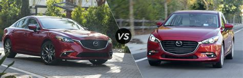 mazda 6 or mazda 3 differences between the 2017 mazda6 and 2017 mazda3