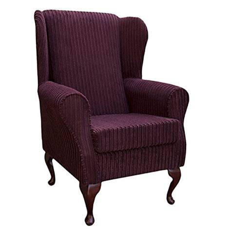 Small Wingback Armchair Small Westoe Wingback Armchair In A Jumbo Cord Mulberry