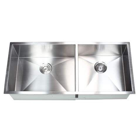 40 Inch Kitchen Sink 42 Inch Stainless Steel Undermount 60 400 Double Bowl