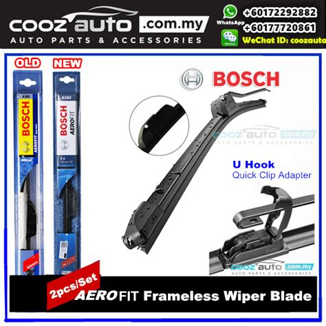 Wiper Bosch 17 Aerofit Frameless hyundai atos 1999 bosch aerofit frameless flat blade wiper 2pcs set
