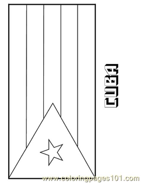 Coloring Pages Cuba Education Gt Flags Free Printable Cuban Flag Coloring Page