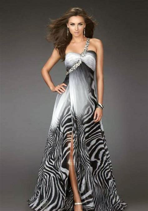 Zebra Dress zebra feather prom dress high low inofashionstyle