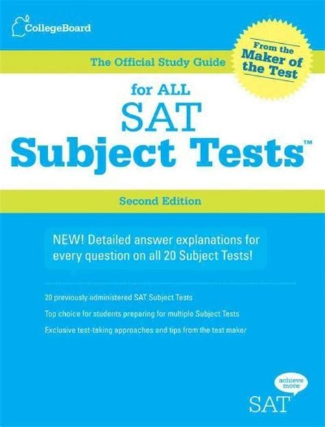 Official Study Guide For All Sat Subject Tests 2nd Ed