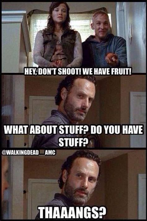 Walking Dead Stuff And Things Meme - rick loves stuff and thangs fandoms incorporated
