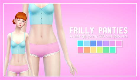 my sims 3 blog frill my sims 4 blog frilly panties in 13 colors by beardust
