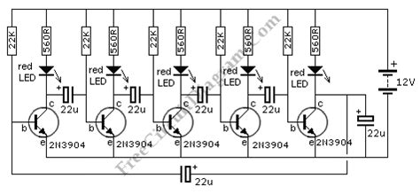 led running display circuit diagram discrete running chasing leds circuit diagram world