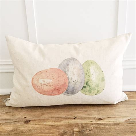 colored pillows colored eggs pillow cover linen and ivory