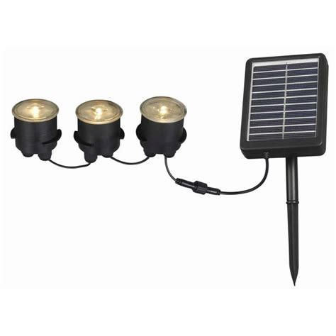 solar lights with remote solar panel solar deck dock and path 3 light string with remote