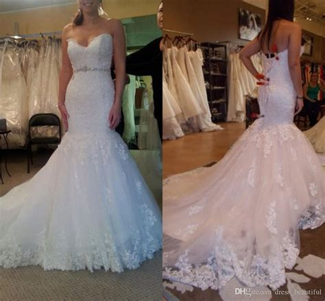 2016 Custom Made Mermaid Lace Wedding Gowns Sexy