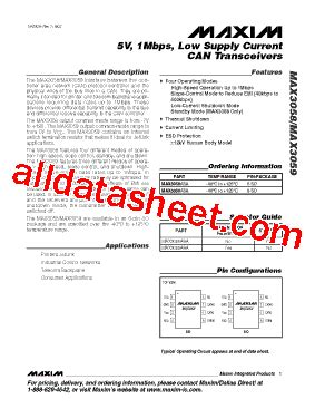 maxim integrated products employee benefits max3058 datasheet pdf maxim integrated products