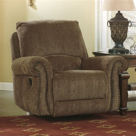 ashley furniture swivel recliner signature design by ashley furniture macnair fabric swivel