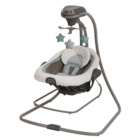swinging bouncers graco duet connect lx infant baby swing and bouncer