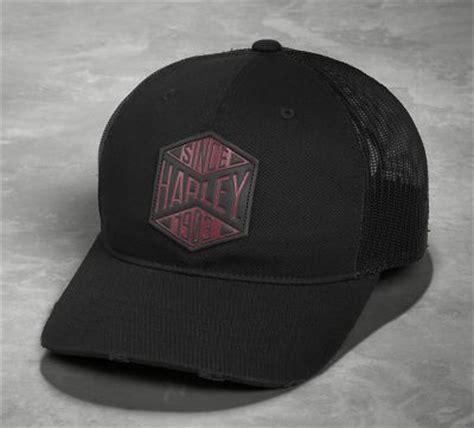 Trucker Hat Jaring Harley Davidson Imbong 1 s patch snapback trucker cap black label official harley davidson store