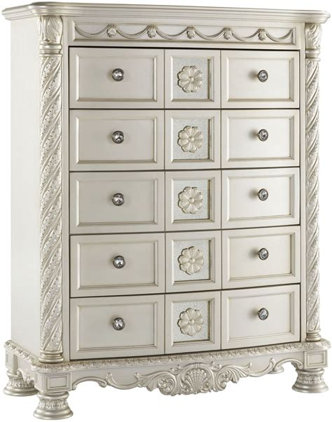 cassimore pearl silver sleigh bedroom set bedroom sets cassimore north shore pearl silver upholstered poster