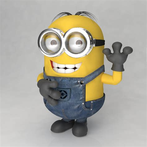 Minions World Graphic 3 minion 4 3d models cgtrader