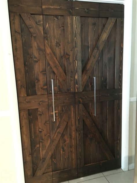 bifold barn door    pantry stainless steel