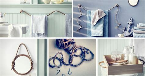 diy bathroom decorating ideas diy rope bathroom decor ideas homelovr