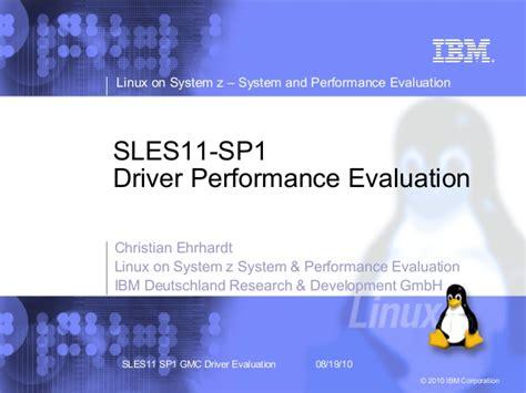 performance evaluation sles sles11 sp1driver performance evaluation