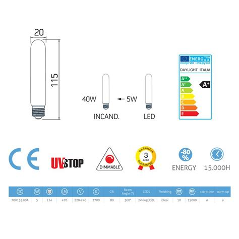 tubular led light bulbs tubular led light bulb 5w e14 clear dimmable