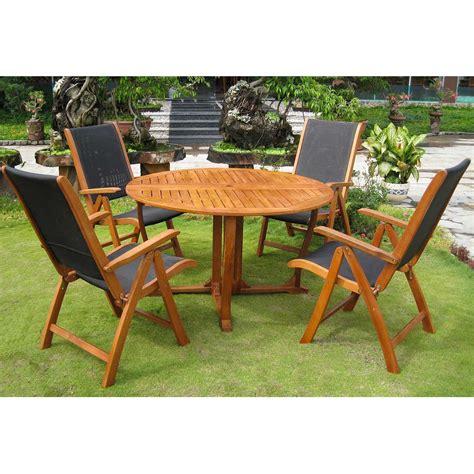 royal terrace outdoor furniture international caravan royal tahiti 5 santiago dining set in stain free shipping