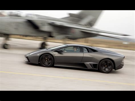 Lamborghini Vs Speed 2008 Lamborghini Reventon Vs Tornado Jet Fighter Side