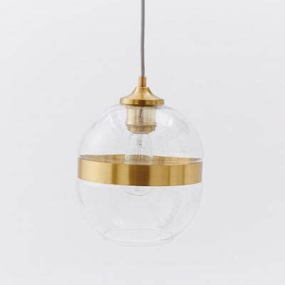 west elm pendants glass and brass pendant look 4 less and steals and deals