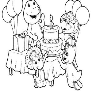 collection of barney birthday coloring page doctor barney coloring
