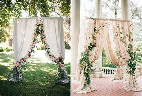 draping flowers for weddings 8 gorgeous pipe drape wedding backdrops bridalpulse